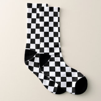 Meias Checkered preto