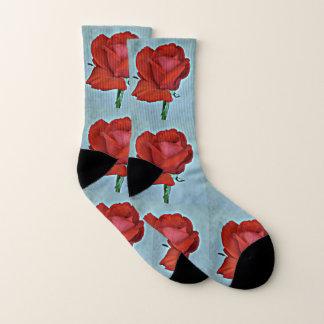 Meias da rosa vermelha