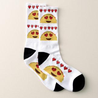 Meias de Emoji do amor do Taco