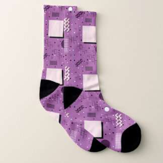 Meias Design abstrato de Memphis do roxo