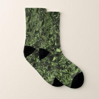 Meias Design da folha de alumínio no verde de musgo