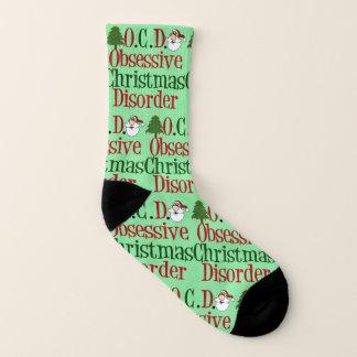 Meias Desordem obsessiva engraçada do Natal