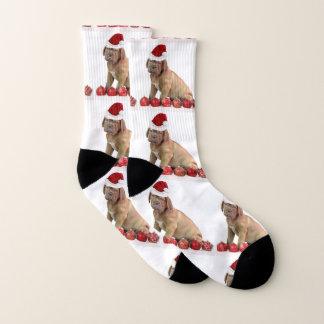 Meias do cão de filhote de cachorro de Natal Dogue