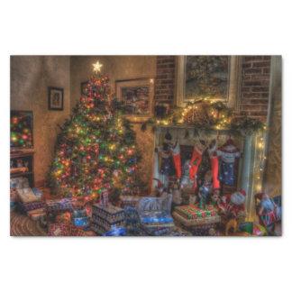 Meias do Natal e lenço de papel da árvore