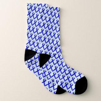Meias Fita padrão azul por Kenneth Yoncich