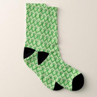 Meias Fita padrão verde por Kenneth Yoncich