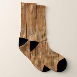 Meias Grão de madeira