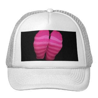 Meias listradas cor-de-rosa bone
