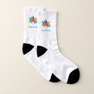 Meias Logotipo do oficial de Canadá 150 - multicolorido