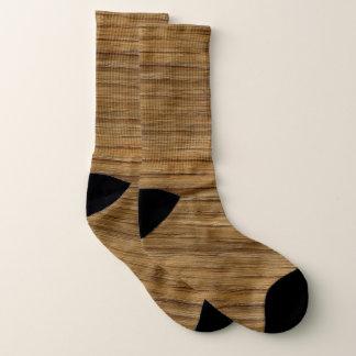 Meias O olhar da textura da grão da madeira de carvalho