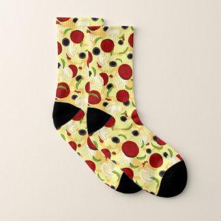 Meias Teste padrão das coberturas da pizza