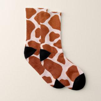Meias Teste padrão do impressão do girafa