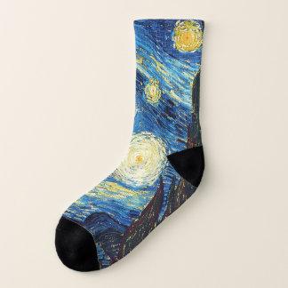 Meias Vincent van Gogh bonito a noite estrelado