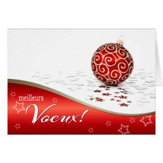 Meilleurs Voeux. Cartões de Natal em francês