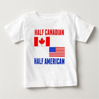 Meio americano parcialmente canadense t-shirt