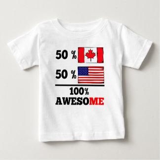 Meio americano parcialmente canadense t-shirts
