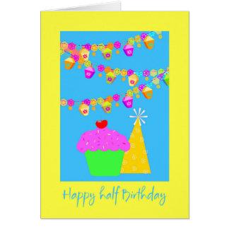 Meio cartão de aniversário