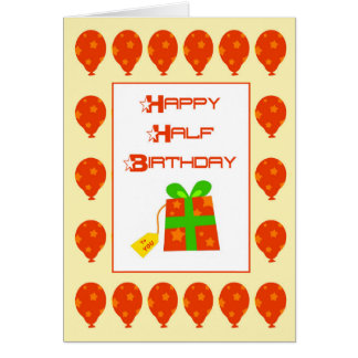 Meio cartão de aniversário feliz
