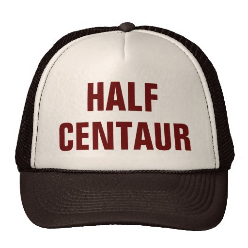Meio chapéu do camionista do centauro bones