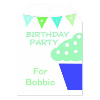 Meio convite de aniversário do cupcake