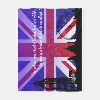 Meio da cobertura do amor de Londres Cobertor De Lã