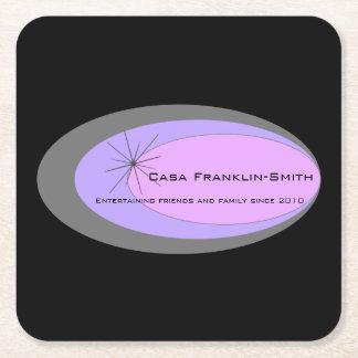 Meio século customizável moderno porta-copo de papel quadrado