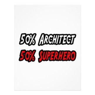 Meio super-herói do meio arquiteto modelo de panfletos