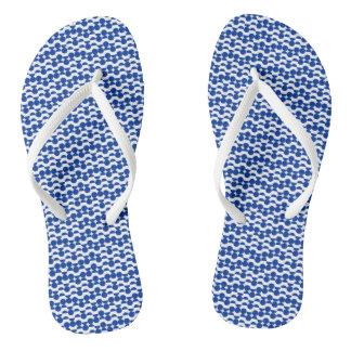 meios chinelos do impressão do mosaico do círculo
