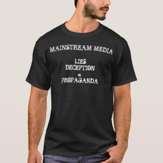 Meios do grosso da população - mentiras, decepção, camiseta