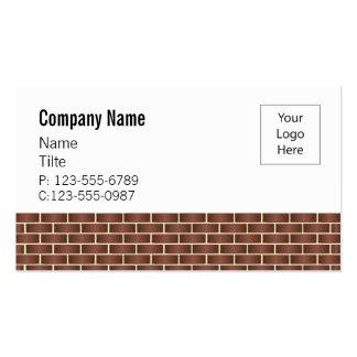 Meios modelos de cartão de negócios da parede de cartão de visita