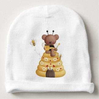 Mel da abelha preta do amarelo da colmeia do urso gorro para bebê