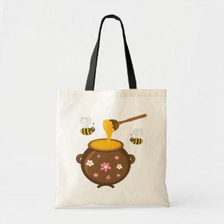 Mel e abelha do mel sacola tote budget