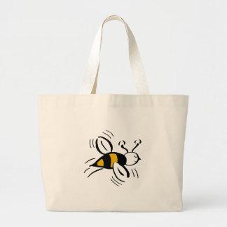 Mel livre e preto da abelha sacola tote jumbo