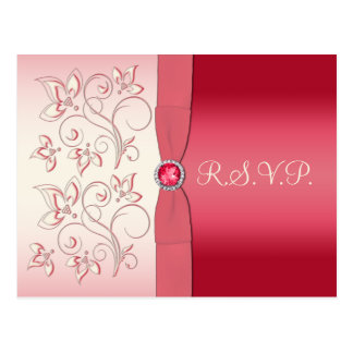 Melancia cor-de-rosa e cartão do marfim R.S.V.P.