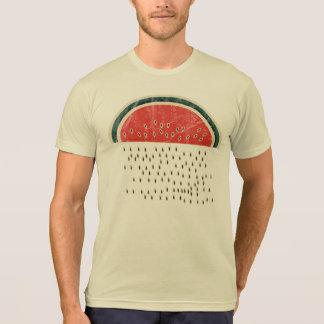 Melancia que chove sementes camiseta