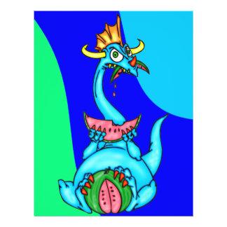 Melancia que come o dragão panfleto