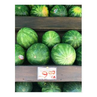 Melancias para a venda, suporte de fruta, Nova Cartão Postal