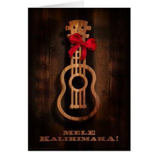 Mele Kalikimaka! Cartão de Natal do Ukulele