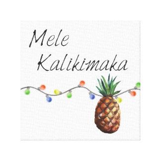 Mele Kalikimaka - impressão das canvas do Natal