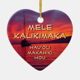 Mele Kalikimaka, ornamento de Hauʻoli Makahiki Hou