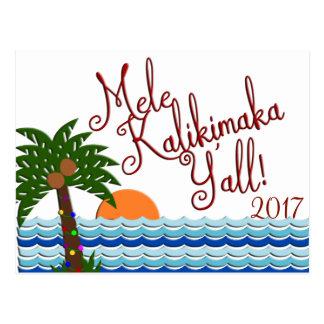 Mele Kalikimaka você cartão da praia do Natal