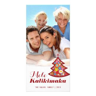 Mele Kalimaka floresce o cartão com fotos da