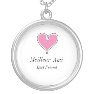 Melhor amigo: Colar do coração do Ami de Meilleur