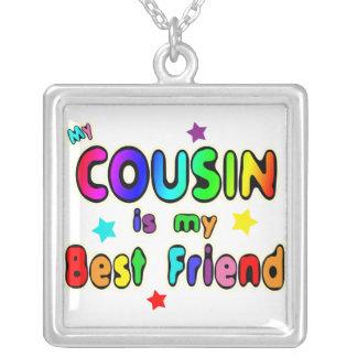 Melhor amigo do primo colar com pendente quadrado