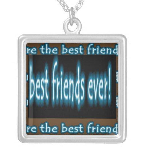 Melhor amigo nunca bijuteria personalizada