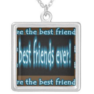 Melhor amigo nunca colar com pendente quadrado