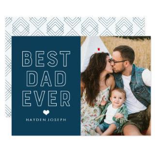 Melhor cartão com fotos moderno do dia dos pais do