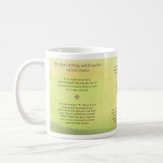 Melhor de citações de Jane Austen do orgulho e do Caneca