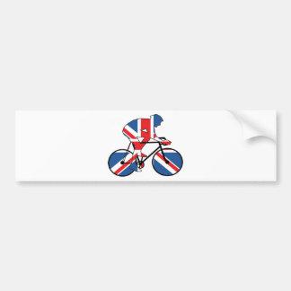 Melhor do ciclista britânico Union Jack Adesivo