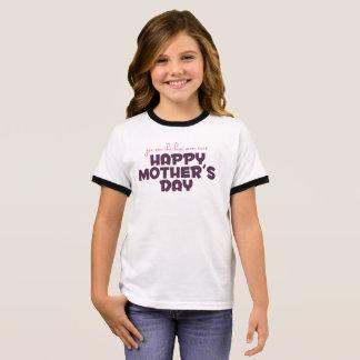 Melhor mamã simples na camisa da campainha da mãe